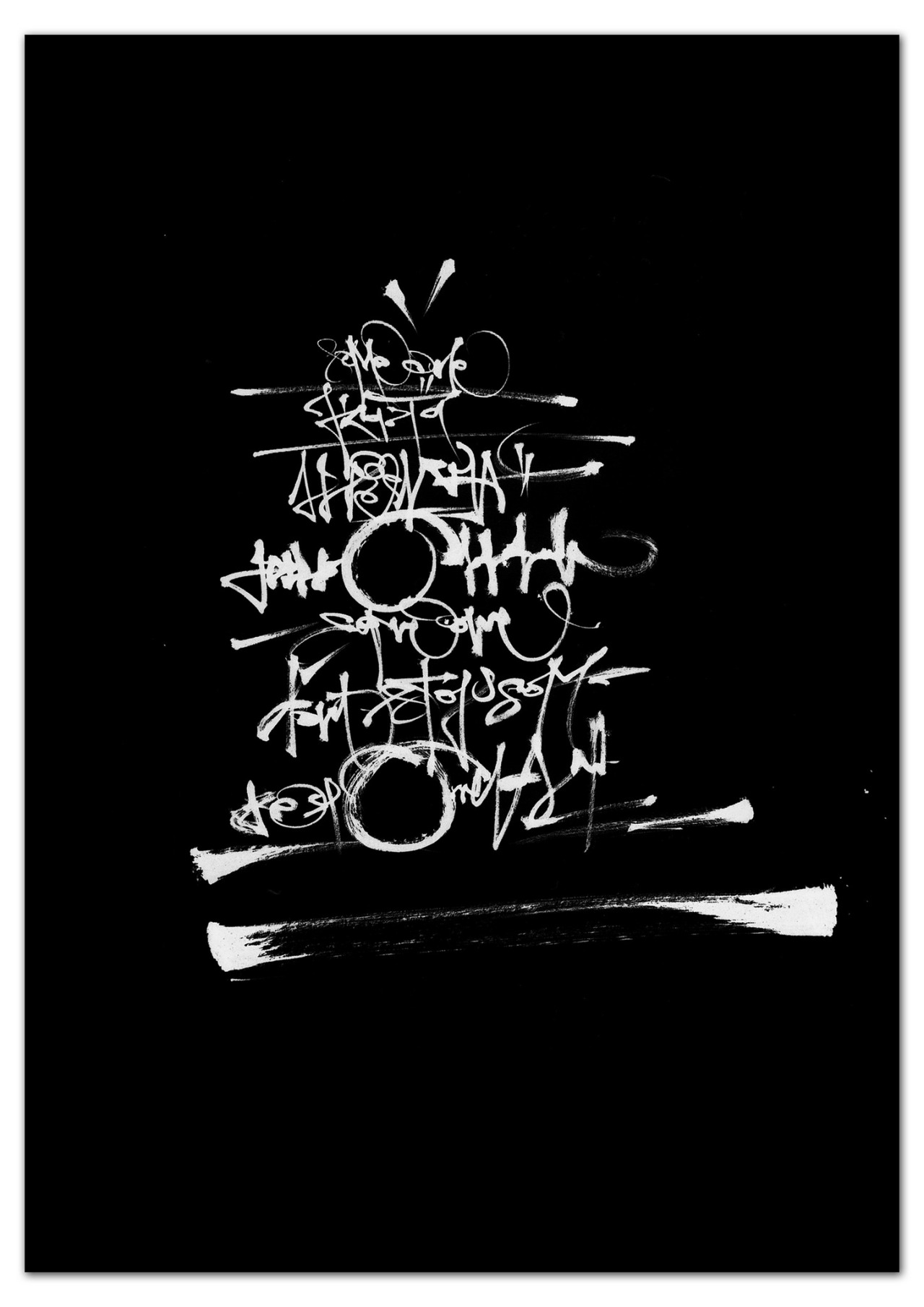 Calligraphi.ca - someOne - abstract writing with pentel brush pen on paper (invert in photoshop) - Greg Papagrigoriou