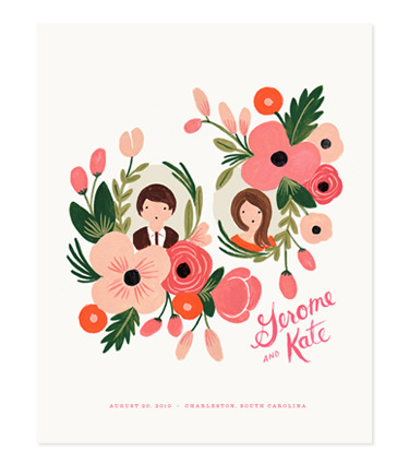 (via Rifle Paper Co. - CUSTOM floral portrait print)