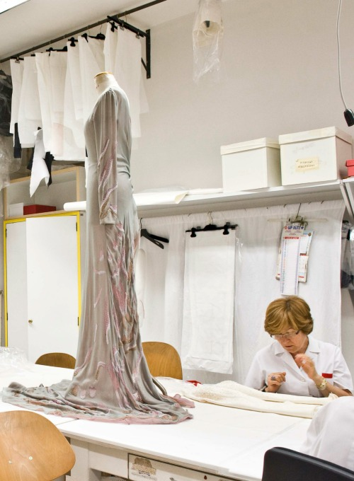 Inside the atelier for Valentino haute couture s/s 2010