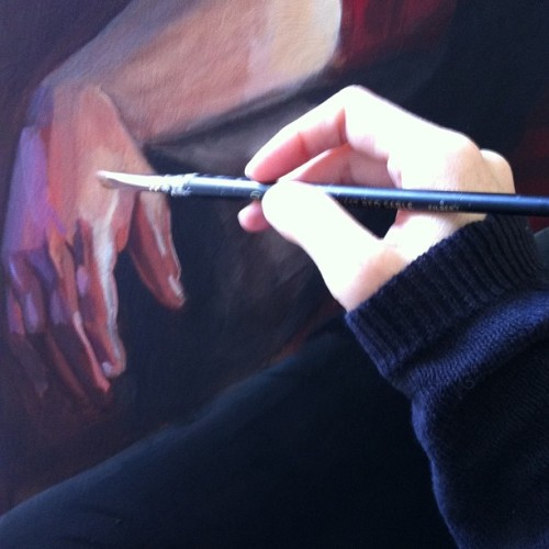 This. All day. 😊🎨 #art #acrylic #wip #painting #handpaintshand
