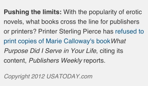 Marie Calloway's book mentioned in USA Today.