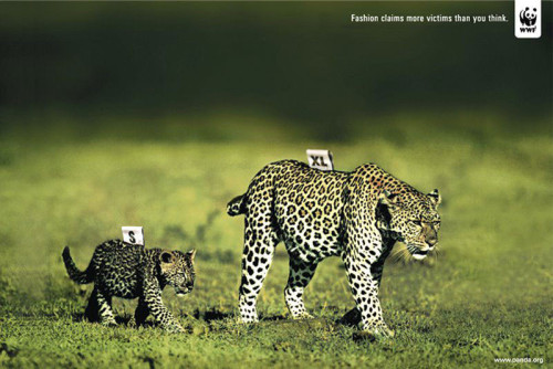 missdianamiller:  ANOTHER great ad from WWF, their ad agency does a great job of these clever, visual ads.