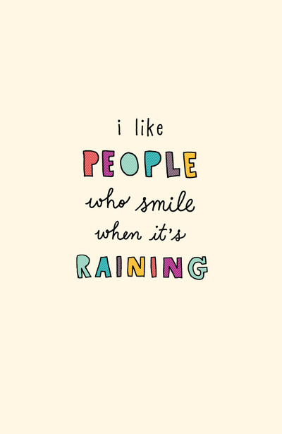 "twloha:  ""I like people who smile when it's raining."" (Art by Riga Sutherland)"