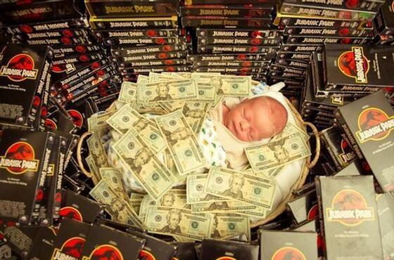 theclearlydope:  Money and baby whatever …  Jurassic Park fort!!!!! via iheartchaos:
