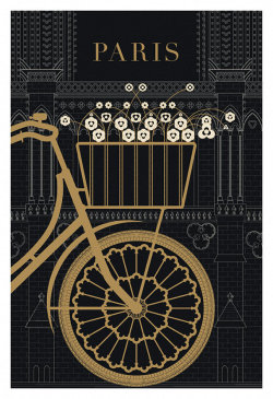 Paris, Bicycle, Notre Dame from TheParisPrintShop