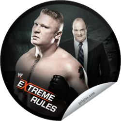 I just unlocked the WWE Extreme Rules: Brock Lesnar and Paul Heyman sticker on GetGlue                      373 others have also unlocked the WWE Extreme Rules: Brock Lesnar and Paul Heyman sticker on GetGlue.com                  Congratulations! You've unlocked our WWE Extreme Rules Series sticker, featuring Brock Lesnar and Paul Heyman.  Don't miss WWE Extreme Rules LIVE May 19 at 8/7 CT, exclusively on PPV. Share this one proudly. It's from our friends at WWE.