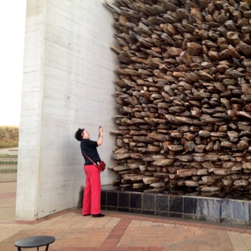 South African tourist takes pictures at the Cradle of Humankind, a UNESCO World Heritage site. Photo by Sara Terry. April 30, 2013. #southafricatourism, #worldheritagesites, #saraterry13