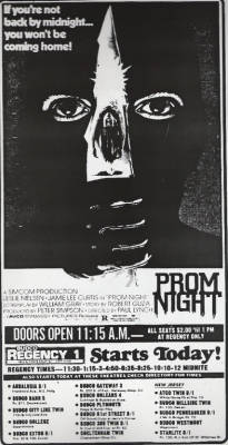 A kick-ass Prom Night newspaper ad courtesy of Starts Today! For more horror newspaper ads, follow Starts Today on Twitter: https://twitter.com/StartsTodayFans