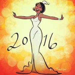 disney celebrate Tiana Princess and the Frog happy new year 2016 stevethompson art