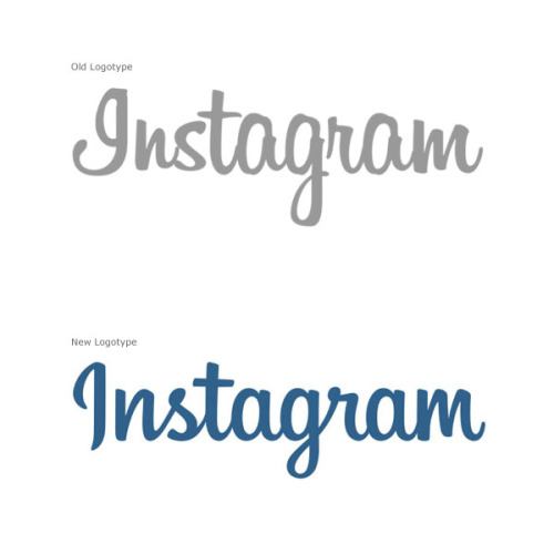 weandthecolor:  Instagram Logotype Mackey Saturday, a Denver-based graphic designer had the opportunity to create the new logotype for Instagram. The old logotype was based on the Billabong font, a retro handlettered script font. This typeface is inspired by 1940s and 1950s script headings with rather free handwritten letters. More of the Instagram Logotype Redesign on WE AND THE COLORWATC//Facebook//Twitter//Google+//Pinterest