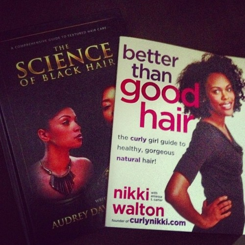 #newreads My hair books came in! The Science of Black Hair by @blackhair101 and better than good hair by @curlynikki