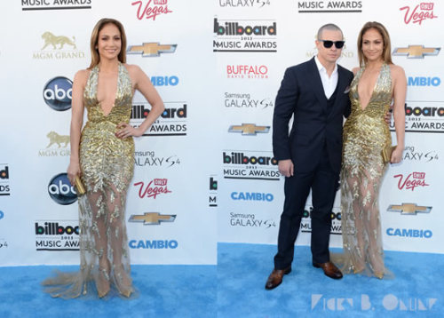 Jennifer Lopez rocks a gold Zuhair Murad gown at the 2013 Billboard Music Awards.  Are YOU digging this look or is it too predictable?