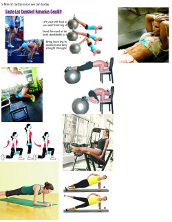 Pictures of tonights workout. We're gonna do core and legs. =D Excited. Hopefully I'll be so sore, it'll hurt to laugh and cough.