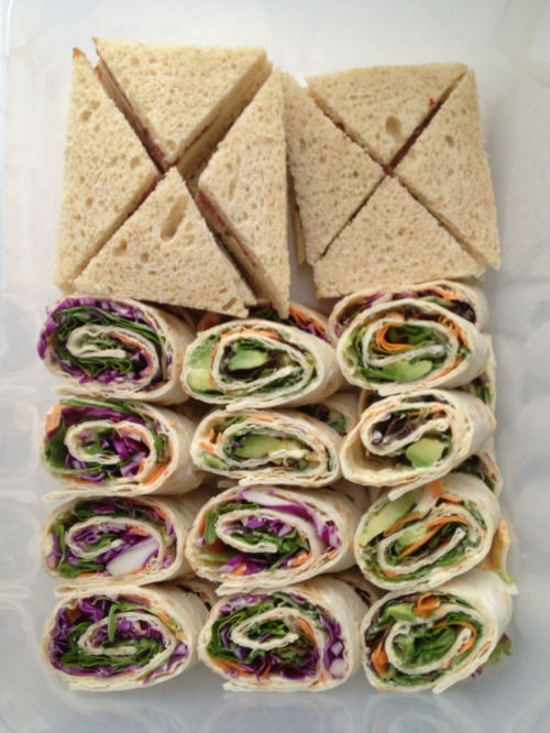 Packed some mini sandwiches to share today