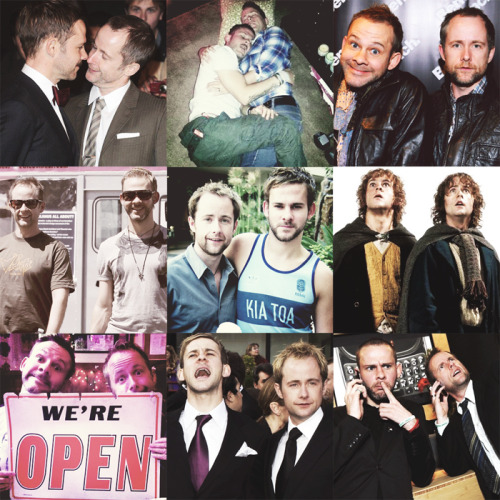 "fangirl challenge 4/15 friendships → billy boyd and dominic monaghan ""We have each other, too. Merry's the one who gets Pippin into trouble"" - Billy"