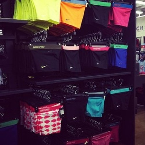 nikeprospandex:  IG: @jennyyderen Cheer and Athlete Problems. Too Many Choices! #nike #nikepro #nikeprospandex #spandex #shorts #workout #run