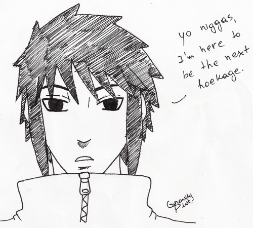 gravitydive:  Quick sketch in response to the latest Naruto chapter, also this and this