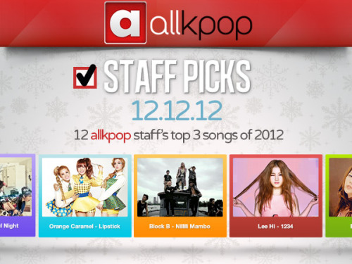 12 staff's top 3 songs!