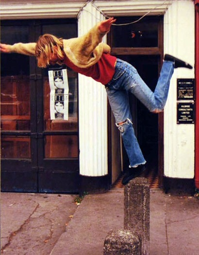 fiddelerselbow:  Kurt Cobain in Cork City August 20th 1991. The photo was taken outside the Old Grand Parade hotel, near where Door 51 is today.