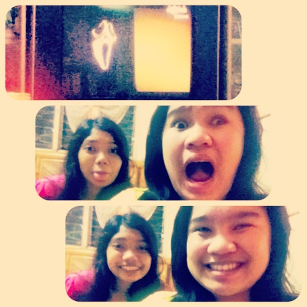 Scream 4 on screen with my ever palalab ig'agaw @fatsssdelante mwamwa :)))