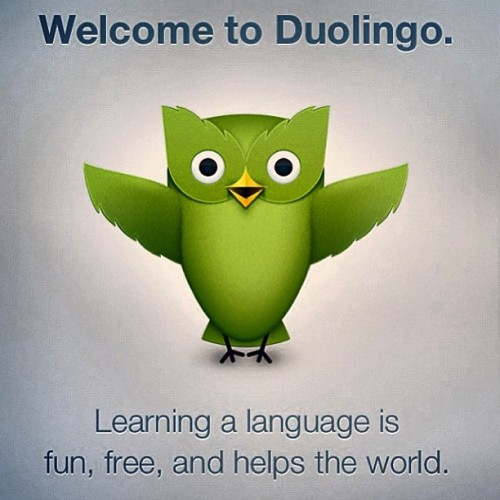 App recommendation: Duolingo - A free app that is proven more effective than Rosetta Stone, and faster than college classes. I've already gotten several friends hooked, and they offer a multitude of languages. If you've ever wanted to learn a language, even just the basics, this is a fun way to do it. #duolingo