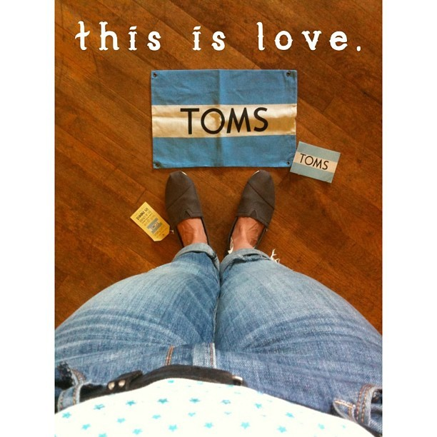 Oh #toms, I love you and all that you stand for. #oneforone
