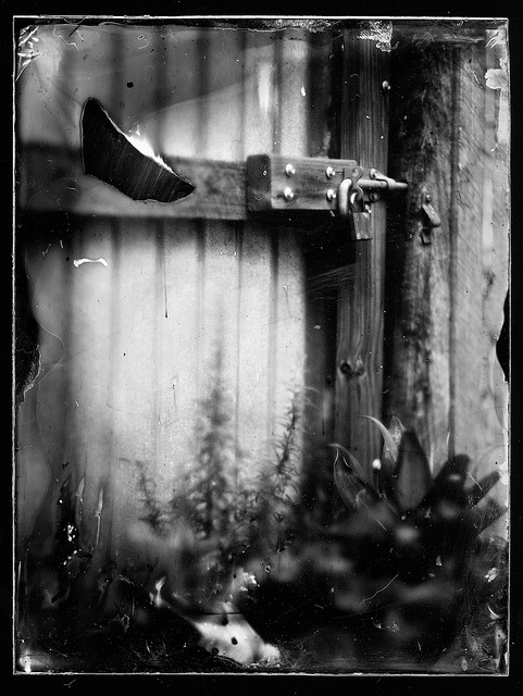 "Lock on Flickr.Homemade Tin Type Graflex Speed Graphic Dallmeyer Pentac 8"" f/2.9 1s exposure"