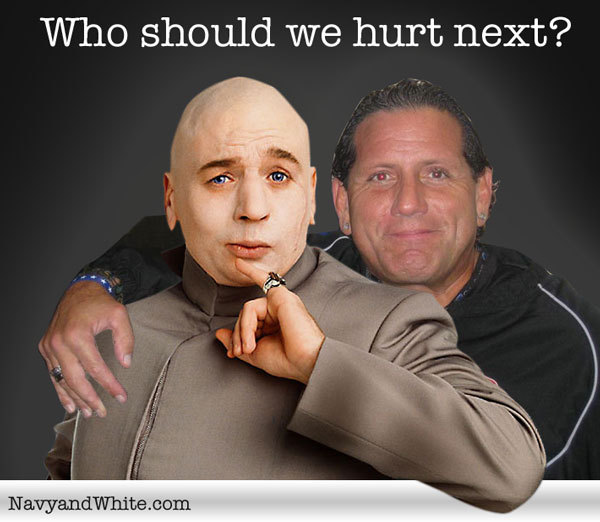 "Dr. Evil and Dan ""Bonecrusher"" Sileo."