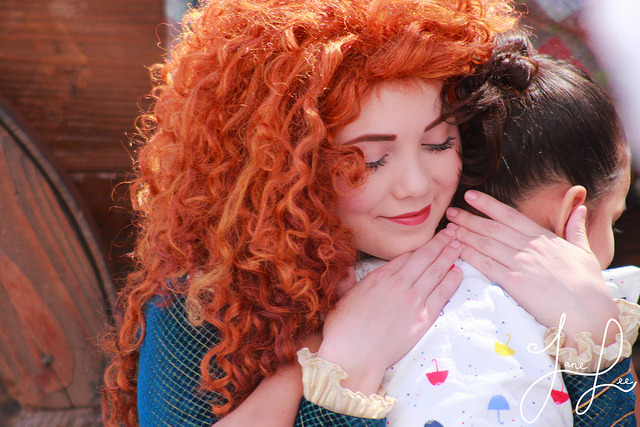 adventuresatdisneyland:  Merida and Guest on Flickr.