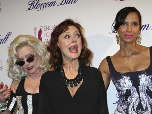 koshersociety:  Deborah Harry, Susan Sarandon and Padma Lakshmi at the 5th Annual Blossom Ball event in New York City. (March 11, 2013)