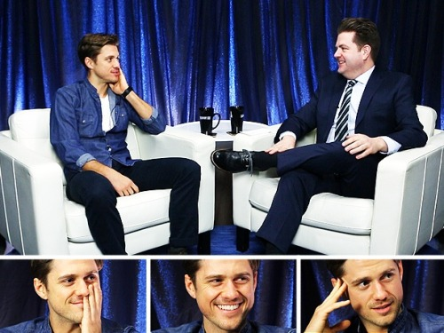 "broadwaycom:  Aaron Tveit on ""carrying the Broadway banner"" in LES MISERABLES, bar fights with Russell Crowe & why he won't tweet"