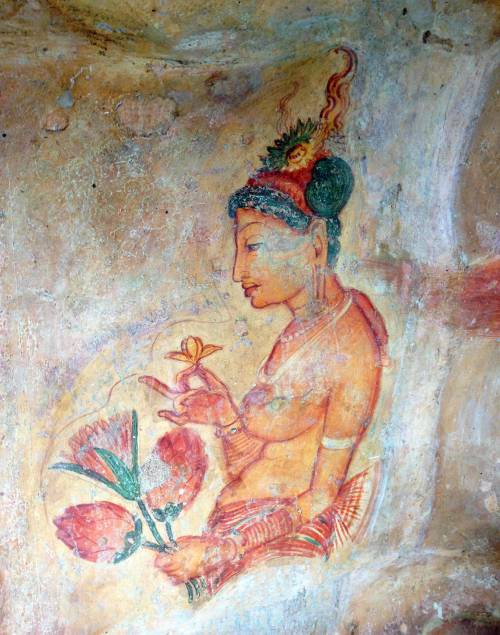 to-the-one-ill-never-please:  fresco at Sigiriya, Sri Lanka