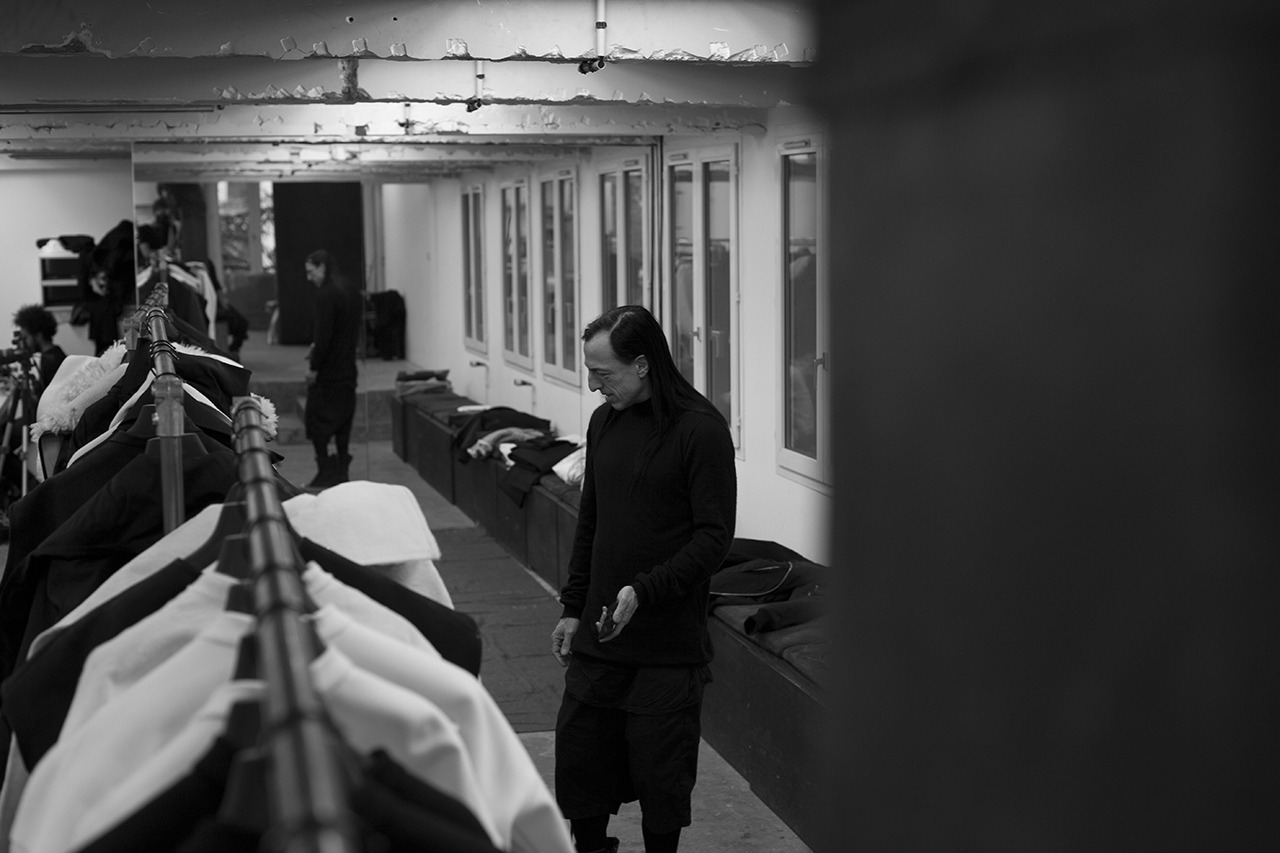 BEHIND THE SCENES AT RICK OWENS EXCLUSIVE: CR goes in the studio with the designer in the days leading up to his show [[MORE]]  Photography Daniella Rech