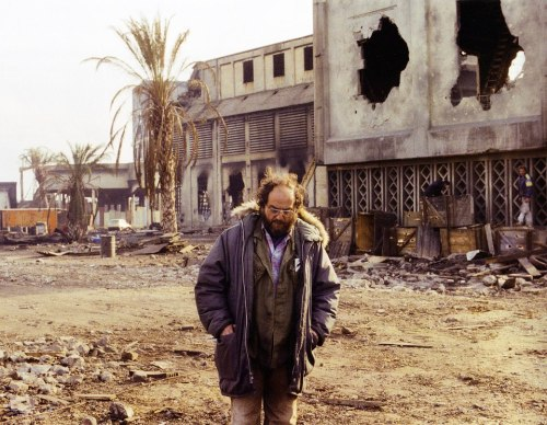 moviesmovesme:  Stanley Kubrick on the set of Full Metal Jacket