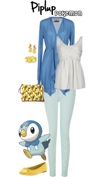 Piplup by brightsunshineyoutfits featuring a scoop neck shirt