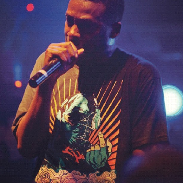 A pic of GZA of the Wu-Tang Clan wearing a tshirt I designed, I'm still pretty smug about that. Protect Ya Neck #illustration #t-shirt # #wutangclan