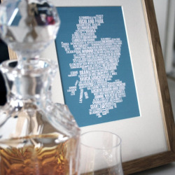 keep-calm-and-stay-focused:  Scotch whisky map of Scotland