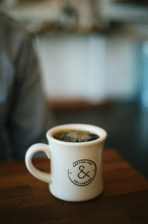 francine-odysseys:  He likes his coffee dark. minolta|x370