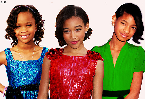 blackfangirlsunite:  hamburgerjack:  shizuuos:  Quevenzhané, Amandla, and Willow as the Powerpuff Girls (inspired by this post)  I'm for this  What more do we need? Nothin that's what. And all the personalities fit. Quevenzhane, the youngest, is bubbly and cute and still innocent and adorable. Amandla  is the temperate and mature leader and Willow is the hot,bad girl type rebel. Perfectttt..