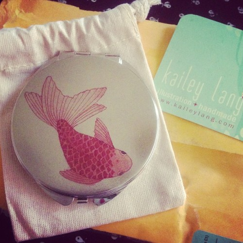 littlelacedress:  *screams* my new compact mirrorrrrrrrrrrrr now I just need to get some makeup… #mirror #kaileylang#ahhhh  Aww, I'm so happy you like it! This is a cute picture. :D