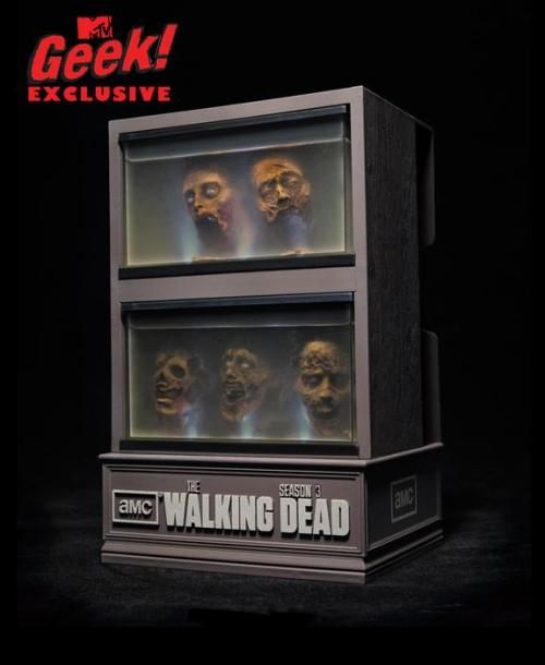 "THE WALKING DEAD Season 3 Limited Edition ""Floating Head"" Blu-ray Case"