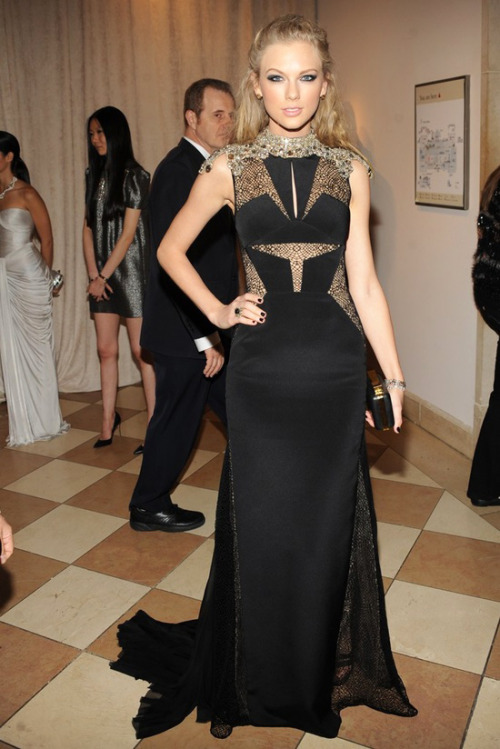Taylor Swift in J. Mendel Best Dressed at the Costume Institute Gala for the 'PUNK: Chaos to Couture' exhibition at the Metropolitan Museum of Art 2013. May 7th, 2013 8:43  P.M. GMT.