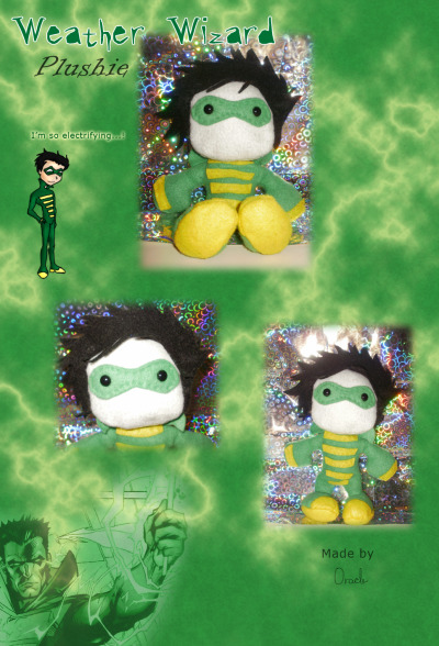 Weather Wizard Plushie!! ♥ He's cute and cuddly and ready to stir up mischief. >;D
