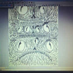 And this is what i'm workin on #wip #drawing #illustration #monsters #sydfly
