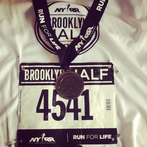Prospect Park to Coney Island in 90 mins. #brooklynhalf #sore