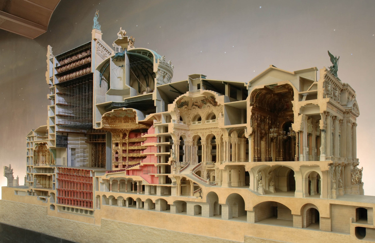 scale model of the palais garnier, paris.