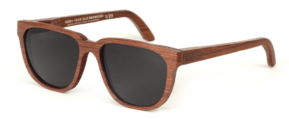wantering:  Capital 1k Reclaimed Redwood Limited Edition Sunglasses