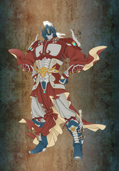zendiagrams-blackmonolith:  Chinese military commander style Optimus Prime. Chinese artist Nkzhangwang, who did a masterful job of weaving a Chinese visual sense into the famed Japanese mecha.   via kotaku