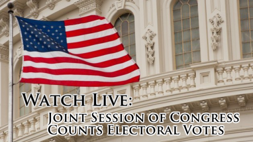 Watch Live: Tallying of Electoral Votes