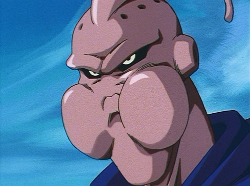 Dragon Ball Z - Episode 255 - Evil Buu chewing Buu's body.